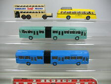 AF92-0,5# 4x Wiking H0 Bus: Mercedes-Benz MB+Correo federal+Sarotti Chocolate,
