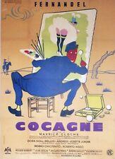"""""""COCAGNE"""" Affiche originale entoiléelitho Jan MARA (Maurice CLOCHE / FERNANDEL)"""