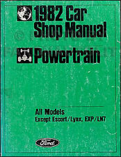 1982 Lincoln Engine and Transmission Shop Manual Mark VI Town Car Continental