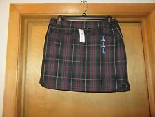 GAP Mini Lined Skirts Reg.Size 18.16.14.12.8.6.4,2 Dark Green and Red Gray Plaid