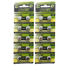 20 pcs AG7 395A SR927 SR57 LR927 927 1.5V Alkaline Button Cell Battery HyperPS