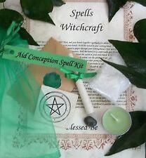 Concepción y fertilidad Kit de hechizo de ayuda Vela Votiva y baño Magia Wicca