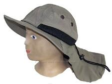 Kid/Child Wide Brim Mesh Summer Hat with Neck Flap,Sun,Shade,Outdoors #285 Olive
