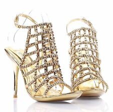 Sexy Open Toe Party Ankle Straps Blink Evening Stilettos Womens High Heels Shoes