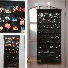 80 Pockets Double-Sided Hanging Jewelry Accessories Organizer Door Storage Bag