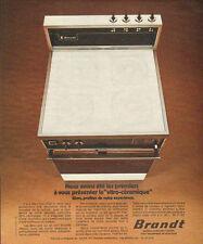 """Publicité 1974  BRANDT la """"Vitro-céramique""""  Cuisinière"""