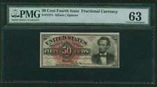 "1869-75 50 CENT FRACTIONAL CURRENCY FR-1374 ""LINCOLN"" PMG CHOICE UNCIRCULATED-63"