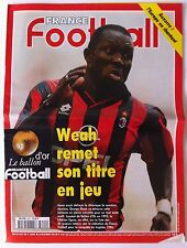 France Football du 26/11/1996; Le ballon d'or/ Weah remet son titre en jeu/ Auxe