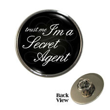 Trust Me I'm A Secret Agent Pin Badge spy MI5 security service Brand New