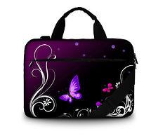 """Canvas 17"""" Purple Laptop PC Netbook Shoulder Bag Case For 17.3"""" HP Pavilion G7"""