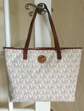 Michael Kors Jet Set Tote Bag Vanilla Signature