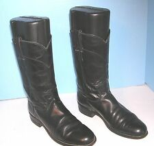 "MEN'S JUSTIN 11"" HIGH ROPER STYLE WESTERN COWBOY BOOTS SIZE 6 A"