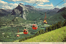 Postcard  Canada Banaff cablecars on Mount Norquay Banff National Park  Alberta