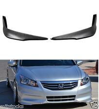 Fit For 2011 2012 Accord Sedan OE Style Front Bumper Lip Splitter Spoiler PP
