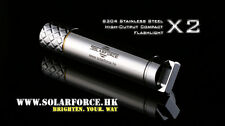 Solarforce X2 Cree XP-E R4 LED 2 Modes Stainless Steel AA Compact Flashlight