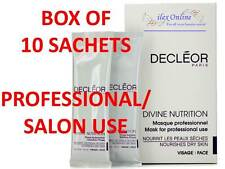 DECLEOR DIVINE NUTRITION MASKS FOR DRY SKIN *SALON / PROFESSIONAL USE* NEW/BOXED