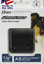 "OSTER SUPERSTEELS A5 1/8"" Blade 7FC 7F*Last 3x LONGER*FIT Andis AG,Wahl Clipper"