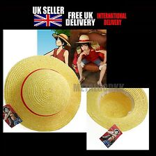 One Piece Luffy Anime Cosplay Straw Boater Beach Hat Cap Halloween Gift New