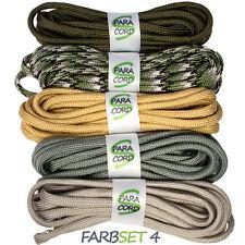 Paracord Starterset Armbänder Farbset 4 - 5x Bänder und Steckschnallen
