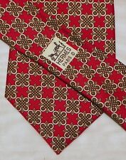 HERMES { PARIS } [ 7642 TA ] men's tie 100% Silk Made in France