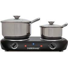 Electric Cooking Stove Double Burner Heating Plates Cooktop Range Oven Kitchen