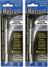 2 Pack Fisher Space Ball Point Pen Refills - BLUE - Fine Point - SPR1F / PR1F