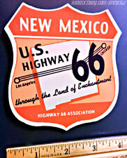 US Route 66 New Mexico Vintage Style Travel Decal / Vinyl Sticker, Luggage Label