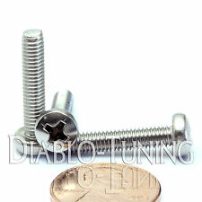 M4 x 20mm - Qty 10 - Stainless Steel Phillips Pan Head Machine Screws DIN 7985 A
