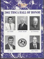 2003 Texas Coach Magazine August THSCA Hall of Honor 19312