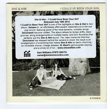 (FA652) She & Him, I Could've Been Your Girl - 2013 DJ CD