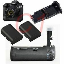 Vertical Muti-power Battery Grip For Canon 60D as BGE9 BG-E9 + 2x Decoded LP-E6