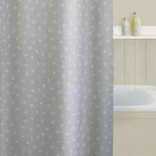 Polka Heart Grey Classic Shower Curtain Luxury Bath Hearts Shabby Chic Silver