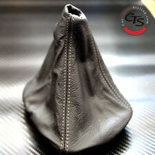 BMW E46 1998-2005 3 SERIES M3 SPORT GREY STITCH GEAR GAITER GAITOR BLACK LEATHER
