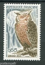 FRANCE - 1971 - timbre 1694 - oiseaux, Grand Duc neuf**