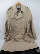 Cole Haan Mens Size Large Double Breasted Long Raincoat Windbreaker