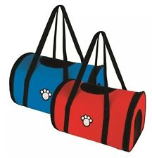 PET CARRY BAG Dog Cat Pet Carrier Soft Cosy Travel Transport Carry Bag RED/BLUE