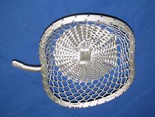 Vintage Aluminum Wire Chain Link Woven Fruit Basket Kitchen Home Decor Apple