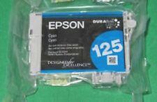 Epson 125 Cyan T1252 T125220 Ink Cartridge Genuine NEW