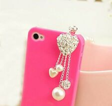 Diamond Love Anti dust plug For Samsung Galaxy S7 S6 Edge+ S5 S4 S3 S2 A9 A8 A7