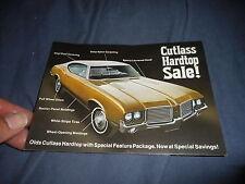 1971 Oldsmobile Cutlass Hardtop Sale Color  Brochure Prospekt Postcard