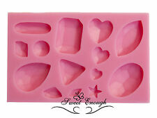 Sugarcraft Mould Sets Gem Diamond Jewel Heart Vintage Buttons Cup cake Isomalt