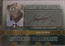 KARI LEHTONEN 12/13 IN THE GAME BETWEEN THE PIPES STARS OF THE GAME AUTOGRAPH