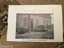 75-3 ephemera ww1 picture 1916 picture team of horses killed by shell burst