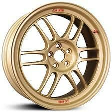 Enkei RPF1 17x8 Racing Wheel GOLD 5x100 + 45 Subaru WRX STI Cobalt SS 17 BY 8