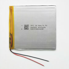3.7V 4000mAh Rechargeable LiPo ion Battery For Power Bank Tablet PC GPS 388992
