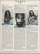 Guthrie Govan (Aristocrats) at age 21 new talent 1993 resume 8 x 11 article