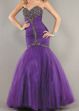 NWT Jovani Strapless Full-Length Mermaid Beaded Prom Dress PURPLE Size 4