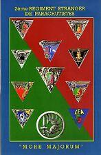 Militaria - CP - Insignes des unités du 2ème Régiment Etranger de parachutistes