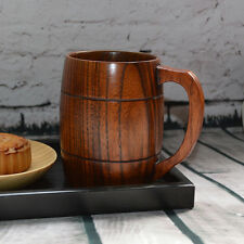 Handcrafted Wood Wooden Milk Beer Mug Souvenir Handmade Souvenir Tea Cup Barrel