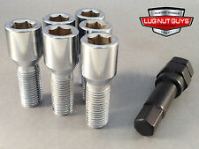 20 TUNER LUG BOLTS 12x1.5 CHROME CONICAL STUD BOLT 30MM 12x1.50 SOCKET STYLE